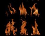 دانلود 13 براش شعله ی آتش فتوشاپ (Fire Brush)
