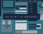 دانلود 36 براش مسطح UI فتوشاپ