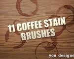 دانلود 11 براش لکه قهوه فتوشاپ